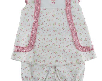 Pima cotton baby cherry dress 3months only