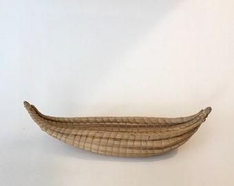 Vintage Miniature Reed Boat