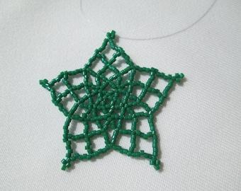 Bold Green Lucky Star Ornament