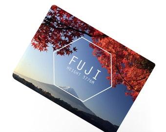 Ceramic Fridge Magnet, Fuji Mountain Japan Motivational Hiking Volcano Autumn Inspirational Fridge Magnets, Refrigerator Magnet, FM150