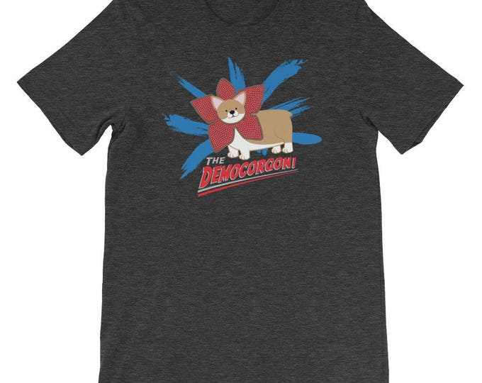 Democorgon T-Shirt // Demogorgon Stranger Things Inspired Tee // Corgi Tee