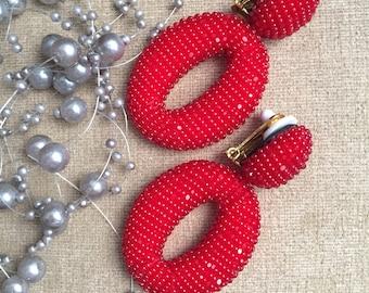 Oscar De La Renta O-style Siam Earrings
