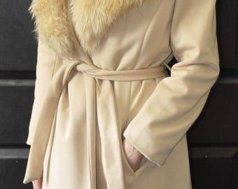 Vintage 1970s Faux Fur Jacket