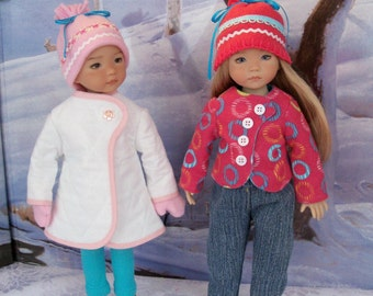 """PDF Sewing Pattern - SNOW BABIES- for Dianna Effner 13"""" Little Darlings, Kish Chrysalis, Hearts 4 Hearts and Betsy McCall"""