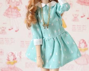 Rain Peter Pan dress for Blythe, licca, azone, Pullip, momoko or similar dolls