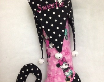 Pink & Black Elf-Toe Stocking