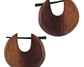 PIN hoops Horn pin 23 mm handmade Sonoholz two-tone round (CPO-108-05)