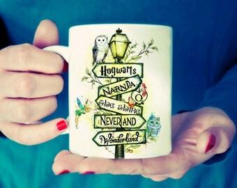 Book traveler Destinations Mug