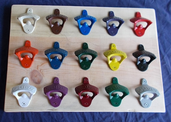 Wall Mounted Bottle Opener In Different Colors With Free Shipping