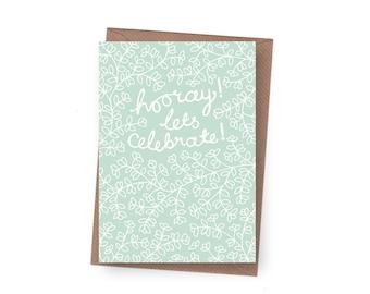 SALE Hooray Celebration Card - 60% off