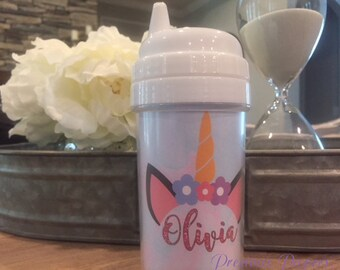 Personalized kids unicorn sippy cups Unicorn sippy cup unicorn kids cup unicorn toddler cup unicorn gift for kids