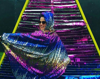 Sparkly Sequin Cape Custom Designed by YOU! Made to order