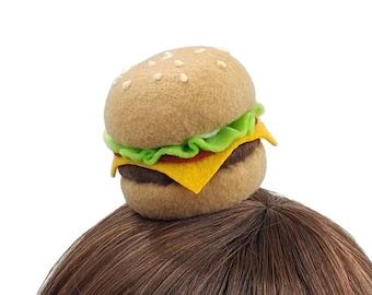 Kawaii Hamburger Hair Clip ~ Made to Order