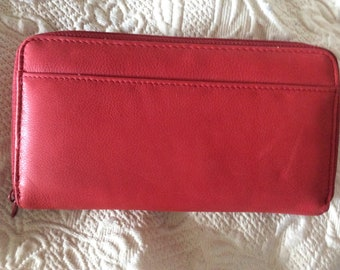 Princess Gardner New Red Leather 2 Compartment Wallet