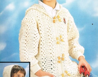 6858E girls  coat / cardigan   crochet   for ladies vintage pattern PDF instant download