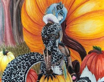 """Fantasy art prints """"Kaoji"""""""