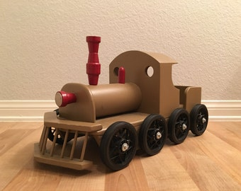 Personalized Toy Wooden Steam Train