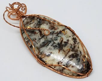 Astrophyllite Pendant in Copper Wire