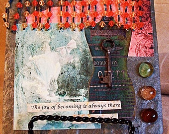 Tile  Collage - The joy of becoming is always there to be awakened.