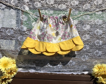 Purple & Yellow Petal Skirt