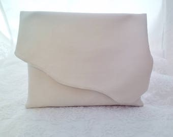 Scalloped Vinyl Clutch