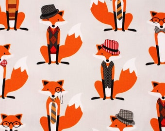 Fox and the Houndstooth Gray Fabric by Robert Kaufman by the Half Yard