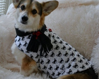 Dog Coat: French Bulldog Fun Print Doggie Jacket All Sizes