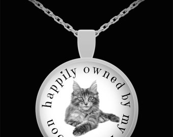 Earth-Edge Maine Coon Cat Necklace - Gift for Maine Coons Owners and Lovers