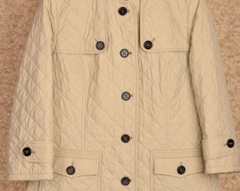 Women's burberry london quilted jacket coat size 42