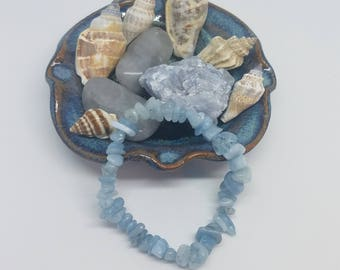 Aquamarine crystal bracelet