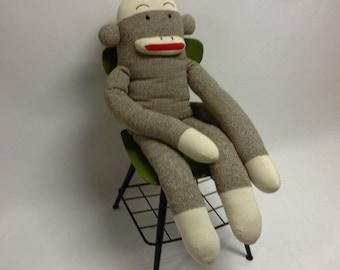 Giant Big Life Sized  Vintage Sock Monkey