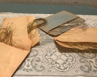 German Metalic Fibers  for Embroidery gold silver