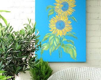 LARGE Sunflowers Stencil ©