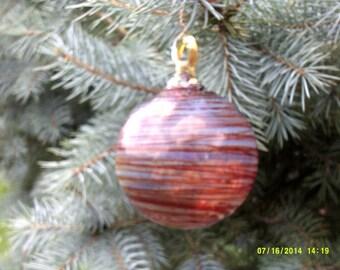 Hand Blown Glass Ornament.