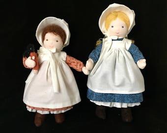 Mary and Laura Ingalls Waldorf Dolls