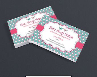 Business Card Designs - Etsy Business Card Designs - Printable Business Card Design - Premade - Birdie Dots