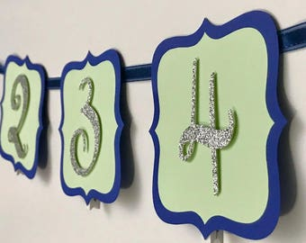 First Year Photo Banner, Year One Banner, 0-12 Months Banner, Customize your colors, 2 shapes avaliable