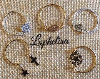 Choose plated 3 microns gold or Silver 925 ring (I release your choice to order) creation lophelisa