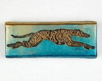 Greyhound Art Dog Lover Gift, Greyhound Sculpture, Pet Lover Gift, Dog Mom Greyhound Rescue Stone Art Plaque, Italian Greyhound