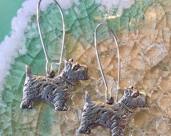 Scottish Terrier Dog Puppy Earrings Scotty Dog