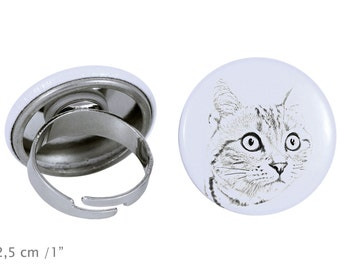 Ring with a cat - American shorthair