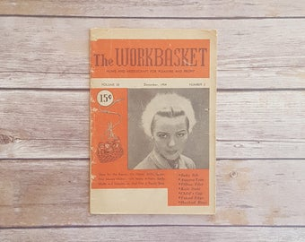 How to Crochet Projects Vintage 1950s Baby Bib The Workbasket Ladies Magazine Angora Tam Instructions Hooked Rugs DIY Tatting Instructions