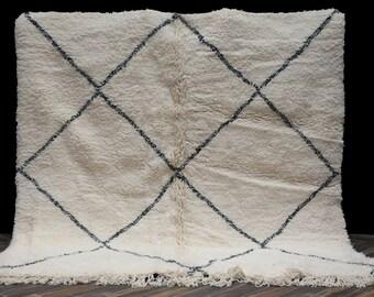 6x6 square Beni Ourain rug - Large Beniourain carpet - 100% wool rug - Morocco rug - Area rug - White rug - Berber rug - Tapis Teppich