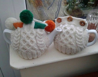 Pattern: Two Way Aran Tea Cosy