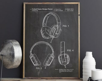 Headphones Printable, Headphones, Headphones Art, Headphones Print, Headphones Poster, DJ Printable, Teen Room Printable, INSTANT DOWNLOAD