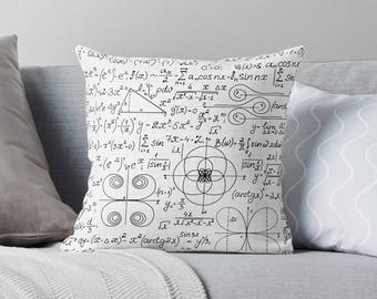 Math Gifts | Math Pillow | Math Teacher Gift | Gifts for Math Teacher | Math Equation | Gift for Teacher | Math Geek | Math Nerd