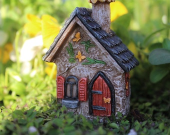 "Itty Bitty 2.25"" Tall Butterfly House for the Fairy Garden"