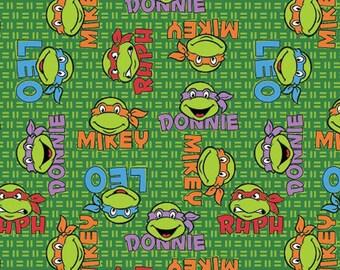 Per Yard, KNIT TMNT Teenage Muntant Ninja Turtles Fabric From Springs Creative