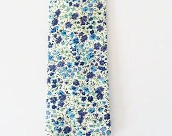 Blue Liberty of London Print Tie, Liberty of London, liberty print, blue floral tie, skinny tie, floral necktie, groomsmen tie, wedding ties