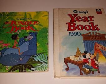 Little Golden Book / Jungle Book / Walt Disney / Year Book / 1990 / Walt Disney Yearbook / 1990 Yearbook / Golden Book / Hardback / CIJ